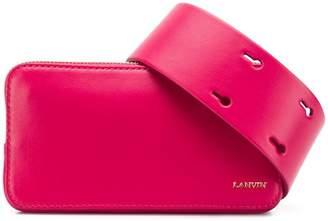 Lanvin logo-stamp belt bag