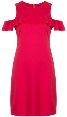Loveless cold-shoulder shift dress