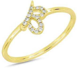 Bony Levy 18K Yellow Gold Diamond Detail Cutout Ring - 0.06 ctw