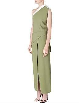 Athena Bianca Spender Olive Crepe Dress
