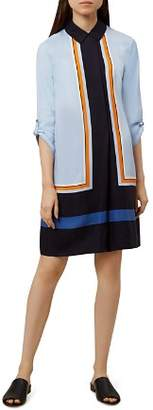 Hobbs London Marci Color-Block Shirt Dress
