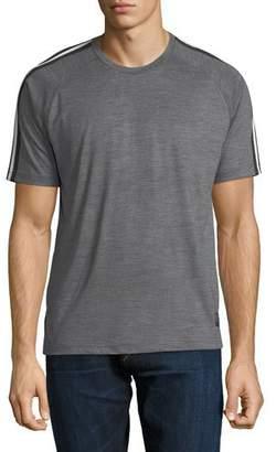 Zegna Sport Techmerino Jersey Short-Sleeve T-Shirt, Medium Gray $325 thestylecure.com