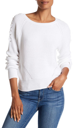 525 America Lace-Up Sleeve Knit Pullover $85 thestylecure.com