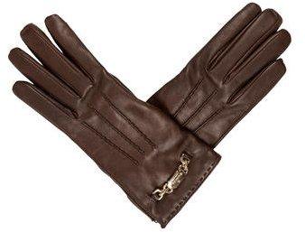 GucciGucci Leather Logo-Embellished Gloves