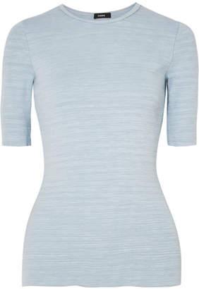 Bassike Slub Cotton-jersey T-shirt - Blue