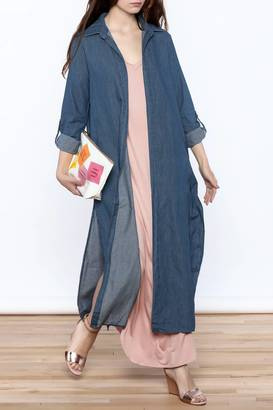 day and night Casual Denim Duster $37.99 thestylecure.com