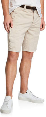 Brunello Cucinelli Men's Linen/Cotton Bermuda Shorts