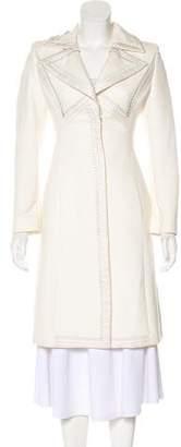 Gianni Versace Structured Notch-Lapel Coat