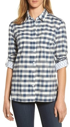 Women's Tommy Bahama Fragmented Gingham Shirt $115 thestylecure.com