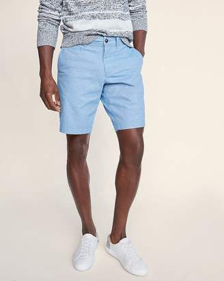 Express Classic Fit 10 Inch Flat Front Stretch Shorts