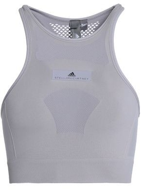 adidas by Stella McCartney Mesh-Paneled Stretch-Jersey Sports Bra