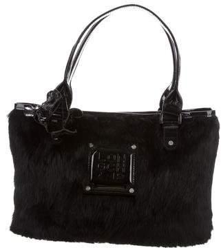 Longchamp Rabbit Fur Handle Bag
