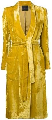 Cavallini Erika velvet single-breasted coat