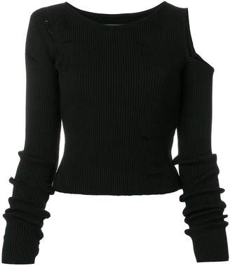 Amiri cold shoulder sweater