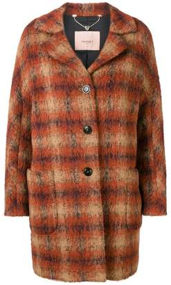 Twin-Set checked coat