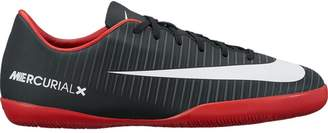 Nike Jr. Mercurial Vapor XI IC Indoor Soccer Shoe (Sz.) Black, White, Red