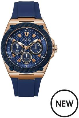 Legacy Blue And Rose Gold Detail Multi Dial Blue Silicone Strap Mens Watch