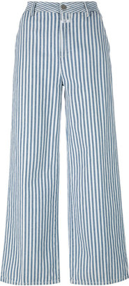 striped wide-legged trousers