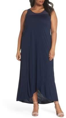 Sejour Long Wrap Style Dress (Plus Size)
