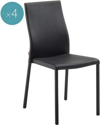 Co Vida & Dining Chairs Edgardo Dining Chair (Set of 4), Black