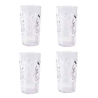 clear Mainstays Acrylic Tumbler Textured Design, Set of 4, 22-Ounce