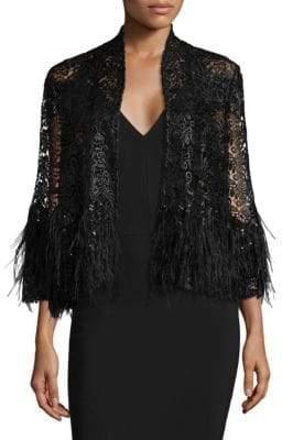 Alberto Makali Feather& Sequin Jacket