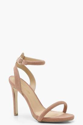 boohoo Wide Fit Skin Tone Two Part Heels