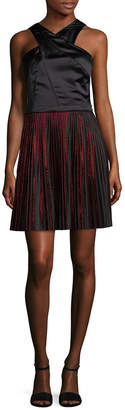 Armani Exchange Pleated Skirt A-Line Dress