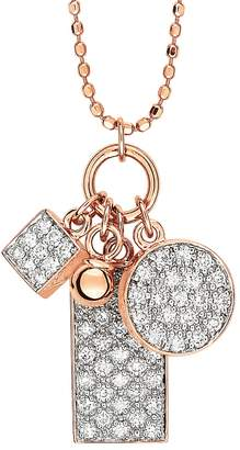 ginette_ny Mini White Diamond Ever Charm Necklace - Rose Gold