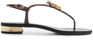 Giuseppe Zanotti Design Pineapple crystal-embellished sandals