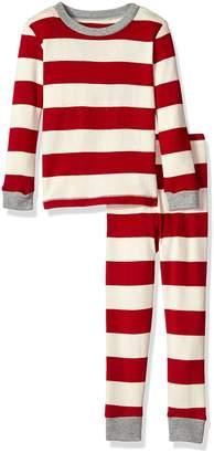 Burt's Bees Women's Rugby Stripe Pj Set, Cranberry