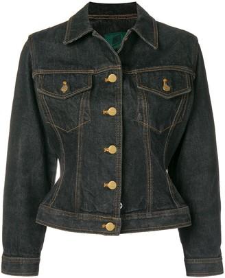 Jean Paul Gaultier Pre-Owned fitted denim jacket