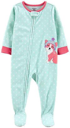 Carter's Girls Fleece One Piece Pajama Long Sleeve