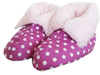 Pillow Boots Feather Boots - Purple with Dots