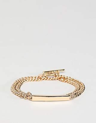 Chained & Able wrap id bracelet in gold