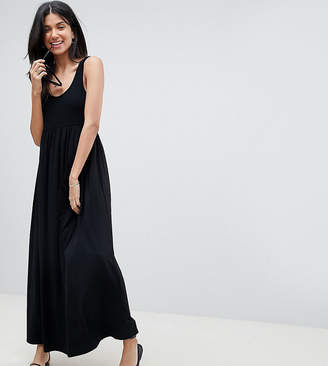 Asos Tall DESIGN Tall mixed fabric strappy maxi dress