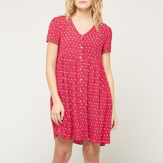 Le Temps Des Cerises Floriane Short-Sleeved Dress