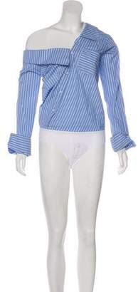 Alix Striped Long Sleeve Bodysuit w/ Tags