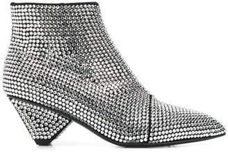 Balmain rhinestone ankle boots