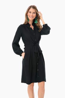 Rebecca Taylor Long Sleeve Silk Tie Dress