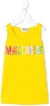 Moschino Kids logo patch sleeveless top