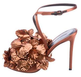 Marco De Vincenzo Embellished Satin Sandals