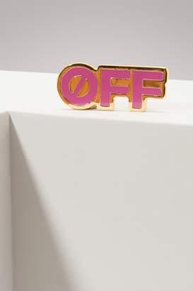 Off-White Off White Off purple pin