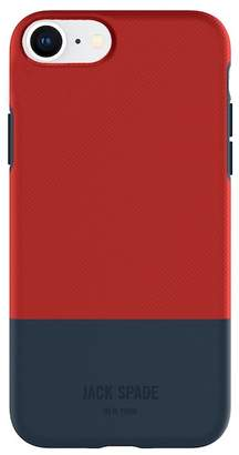 Jack Spade Colorblock Case for iPhone 8 & iPhone 7 - Twill Red\u002FNavy