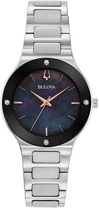 Bulova Women's Stainless Diamond Accent Watch
