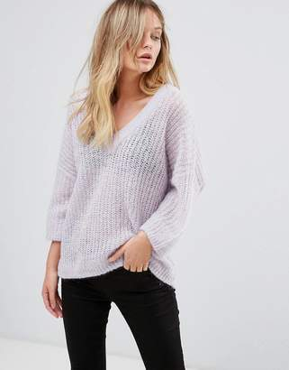 Selected 3/4 Sleeve V-Neck Sweater