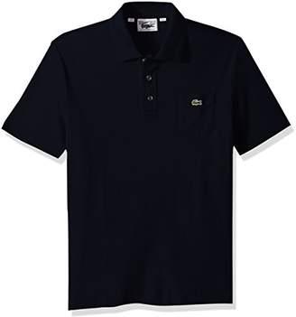 Lacoste Men's Short Sleeve '85th Anni' 30's Pocket Pique Slim Polo