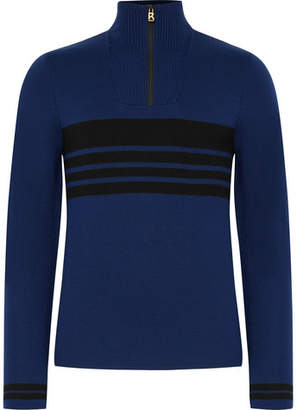 Bogner Fire Ice Toby Striped Wool-Blend Half-Zip Base Layer
