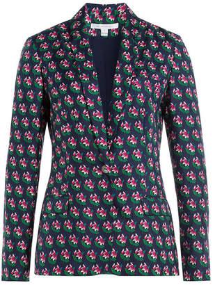 Diane von Furstenberg Floral Print Silk Blazer