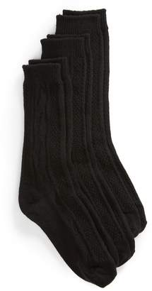 Hue 3-Pack Cable Boot Socks
